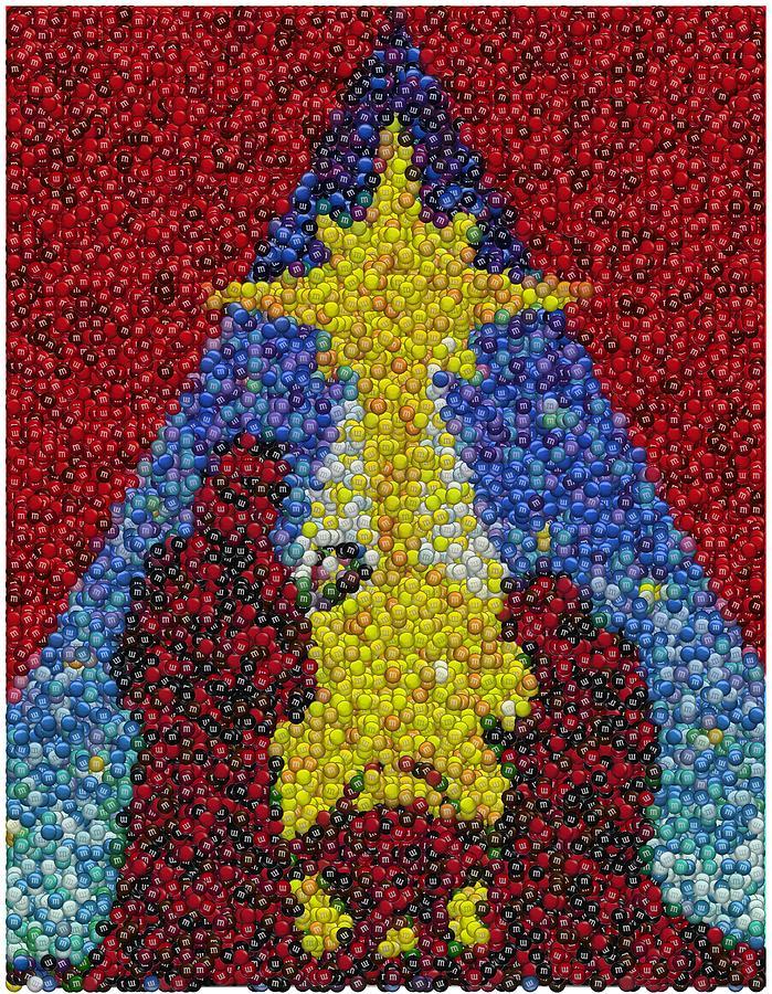 Nativity Scene Mixed Media - Nativity Mm Candy Mosaic by Paul Van Scott