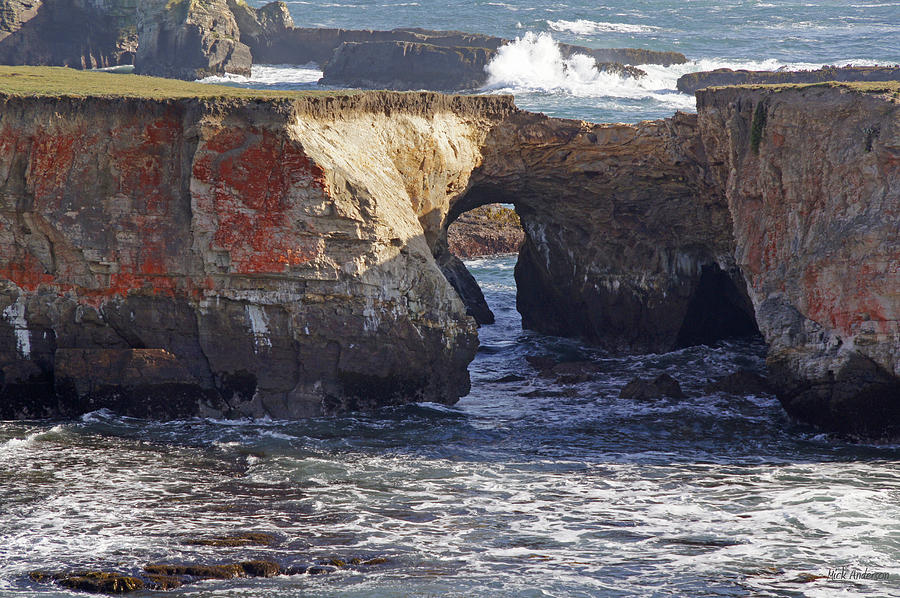Natural Bridge At Point Arena Photograph