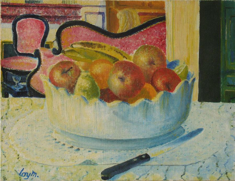 Nature Morte Au Couteau Painting