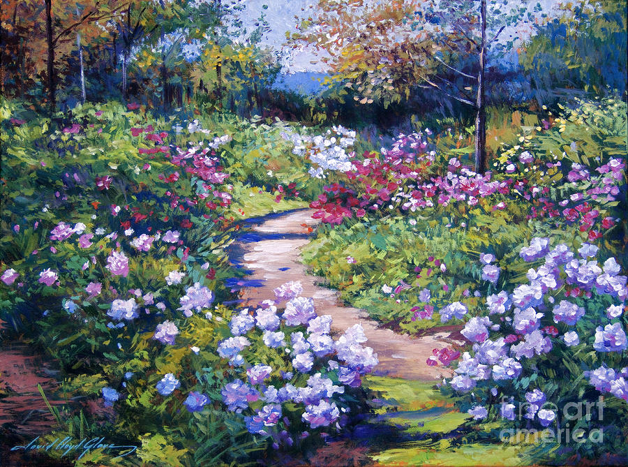 Nature 39 s garden by david lloyd glover for Garden painting images