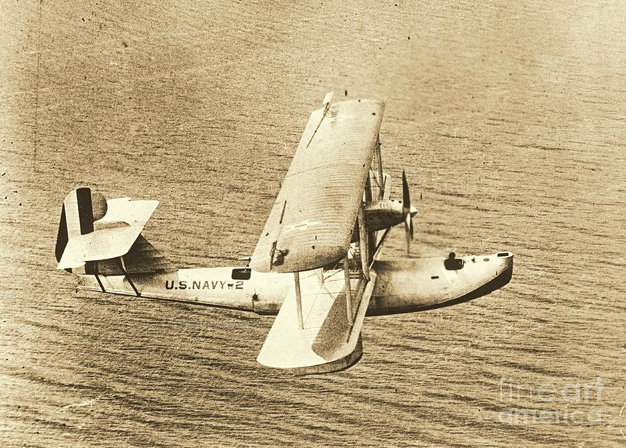 Navy Patrol Plane Pb1 In Flight Photograph  - Navy Patrol Plane Pb1 In Flight Fine Art Print