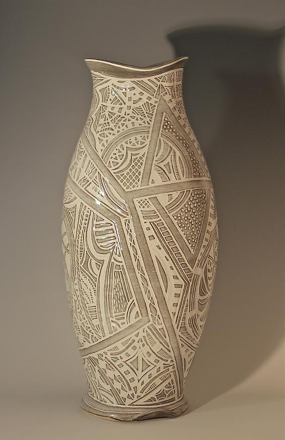 Pottery Ceramic Art - Nazeen by Karen Palmer