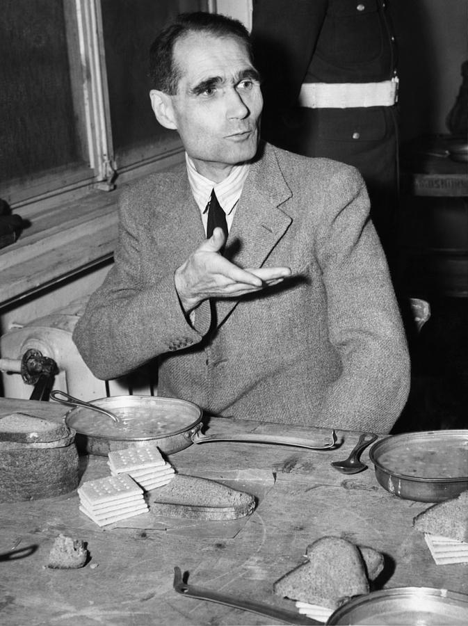 Nazi War Criminal Rudolph Hess Eating Photograph
