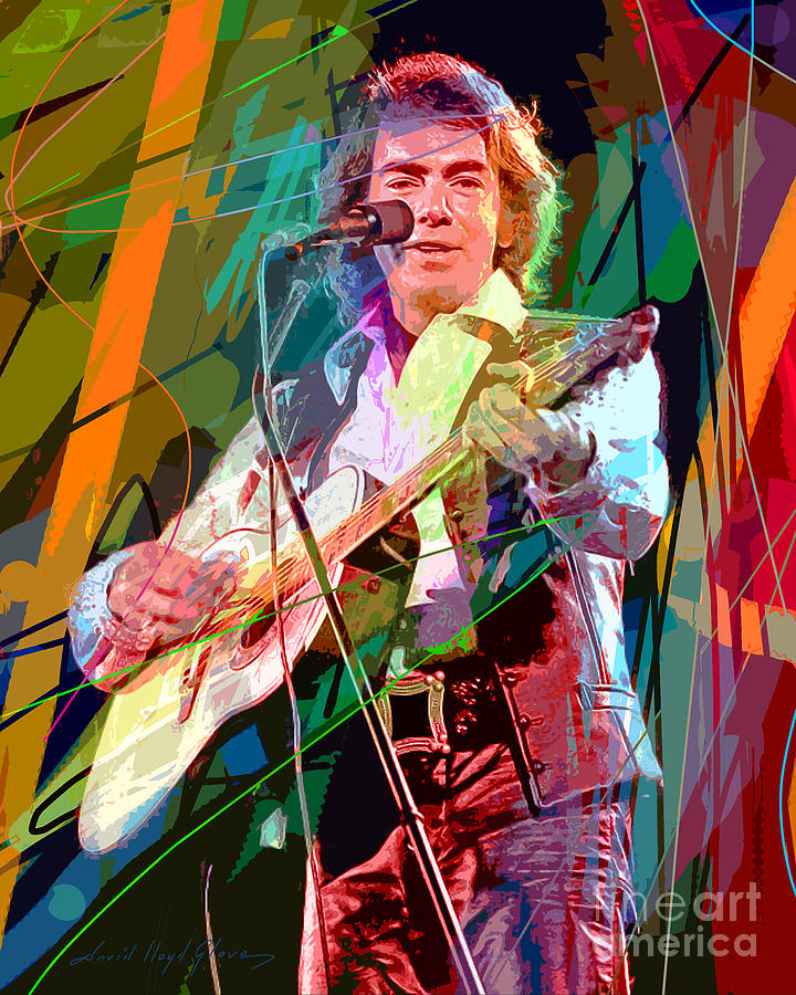 Neil Diamond Hot August Night Painting  - Neil Diamond Hot August Night Fine Art Print