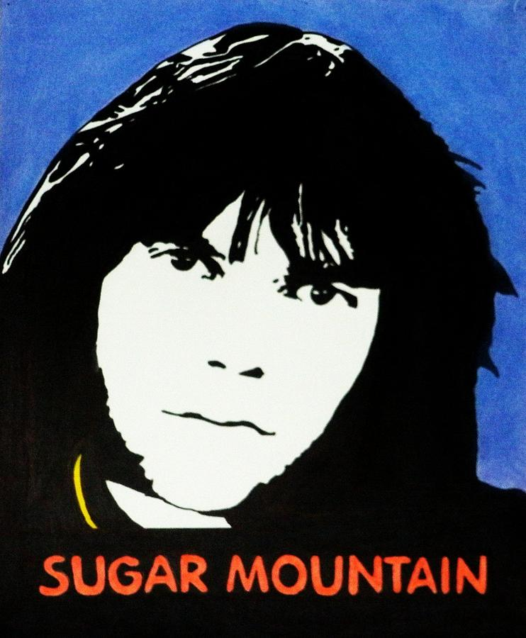 Neil Young Sugar Mountain Drawing  - Neil Young Sugar Mountain Fine Art Print