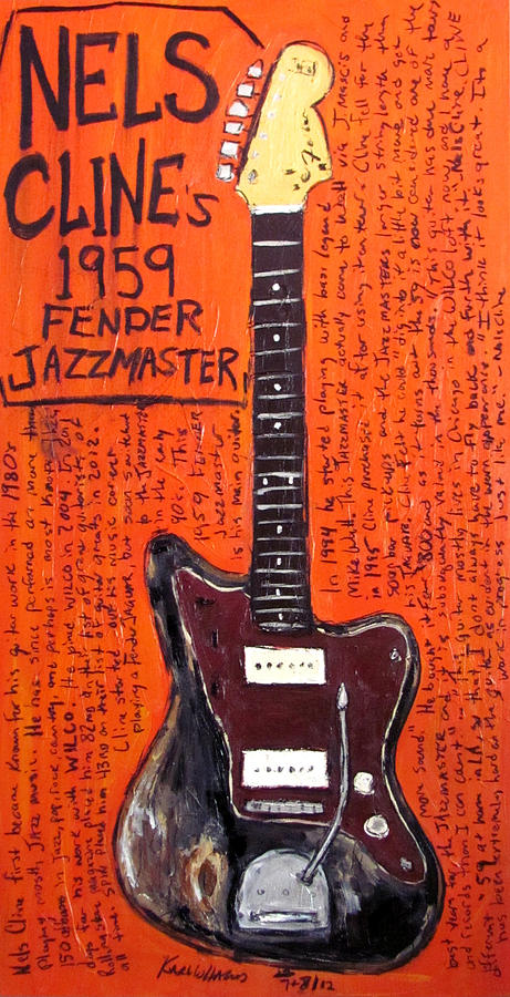 Nels Cline Fender Jazzmaster Painting