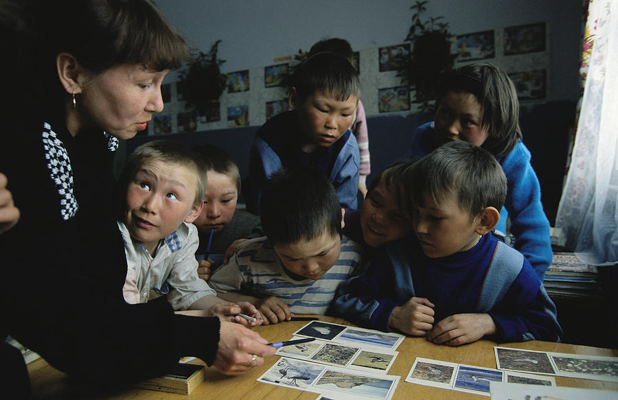 Nenets Students Must Learn Russian Photograph  - Nenets Students Must Learn Russian Fine Art Print