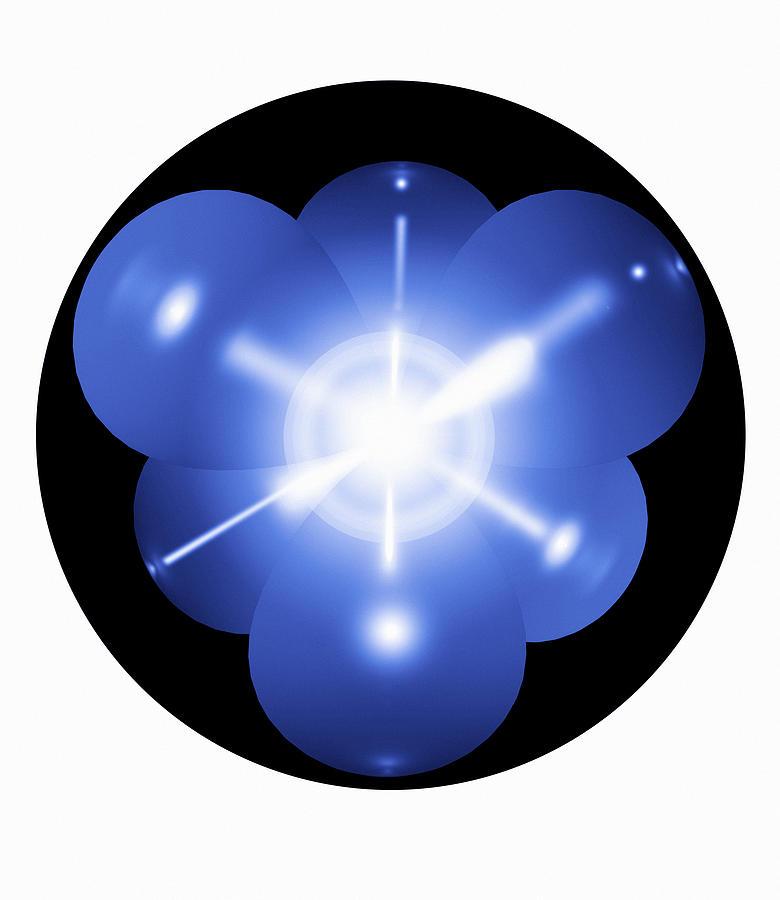 Neon Atom, Artwork Photograph