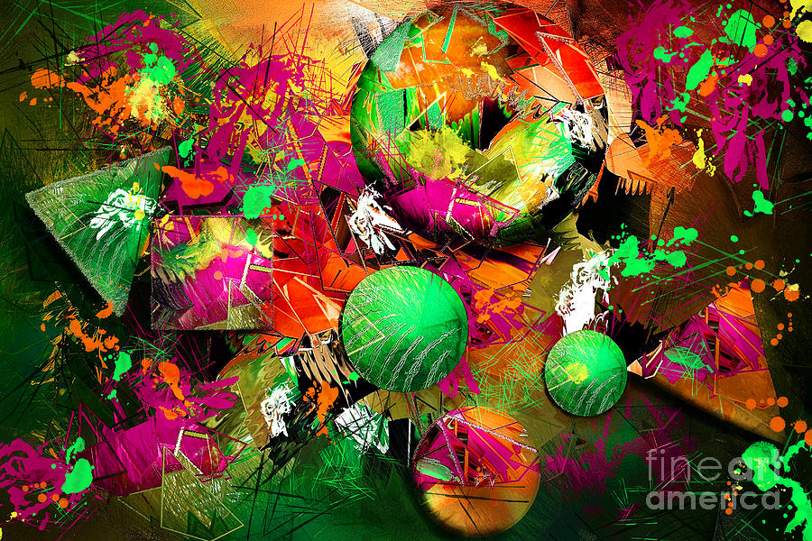 Neon Ink - Abstract Art Digital Art  - Neon Ink - Abstract Art Fine Art Print