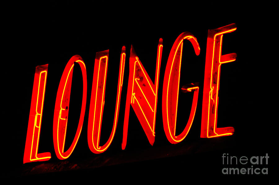 Neon Lounge Sign Photograph