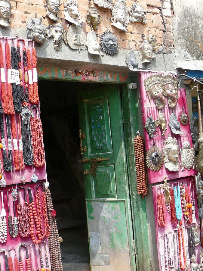 Nepalese Jewelry Shop Photograph