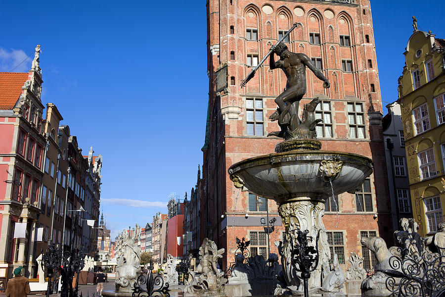 Neptune Fountain In Gdansk Photograph