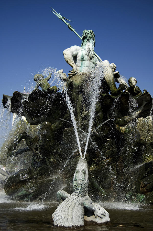 Neptune Fountain Photograph  - Neptune Fountain Fine Art Print
