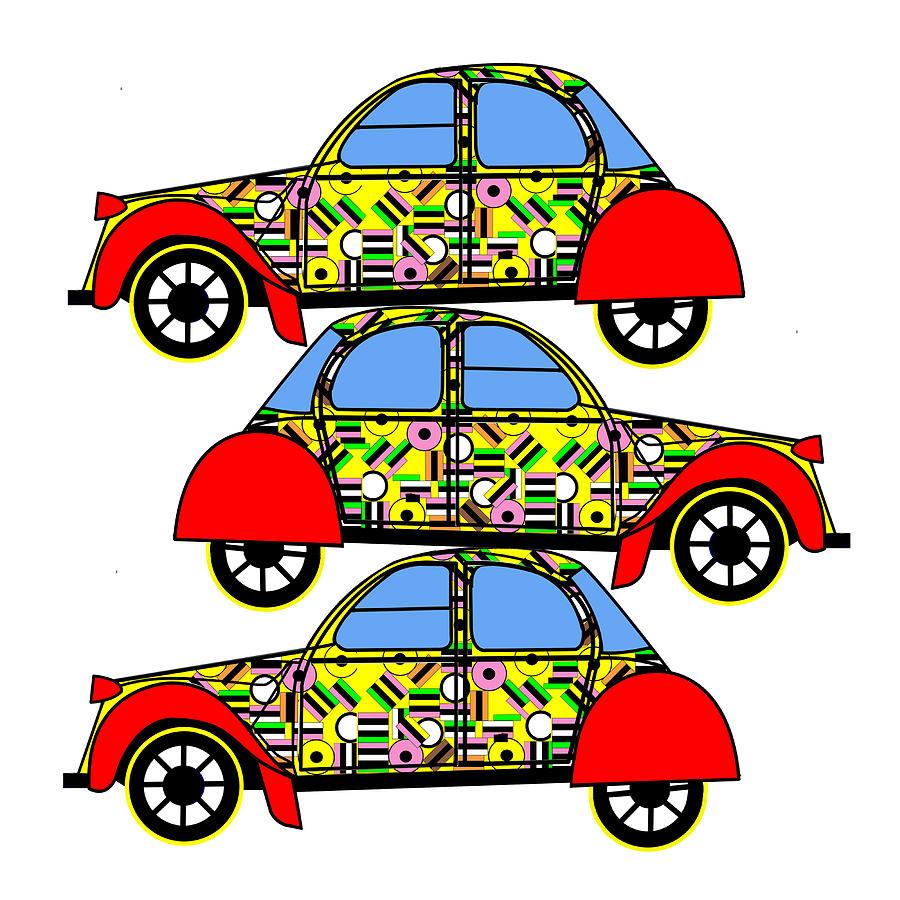 Nerds Car - Virtual Car Digital Art