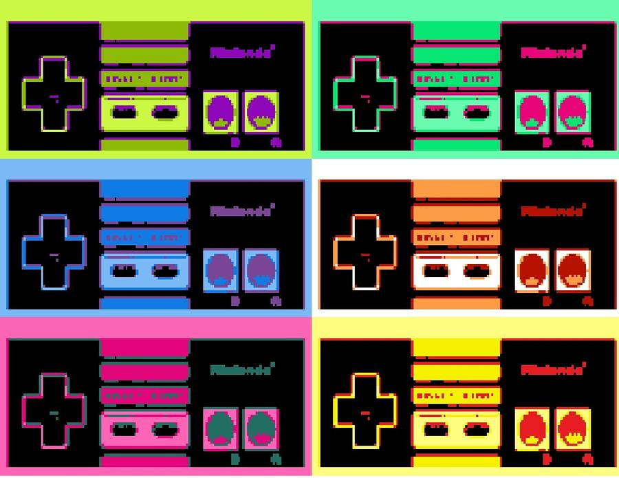 Nes Pop Mixed Media