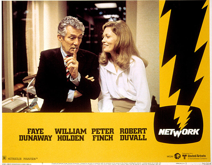 Network, Peter Finch, Faye Dunaway, 1976 Photograph  - Network, Peter Finch, Faye Dunaway, 1976 Fine Art Print