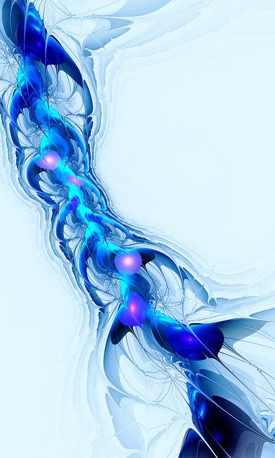 Neural Channel Digital Art  - Neural Channel Fine Art Print