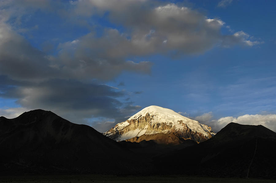 Nevado Sajama At Sunset. Republic Of Bolivia.  Photograph  - Nevado Sajama At Sunset. Republic Of Bolivia.  Fine Art Print
