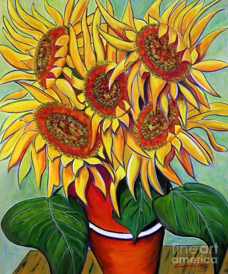 Never Enough Sunflowers Painting  - Never Enough Sunflowers Fine Art Print