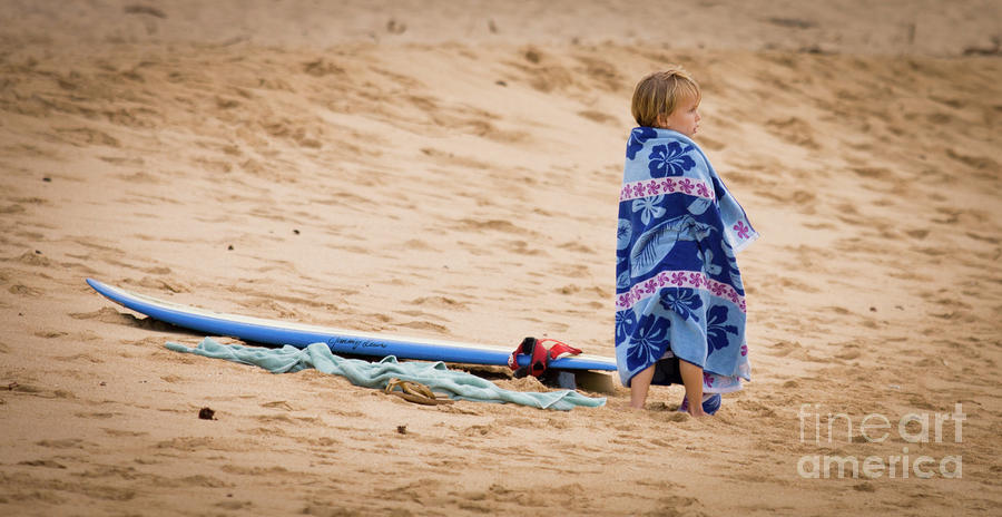 Never Too Young To Surf Photograph