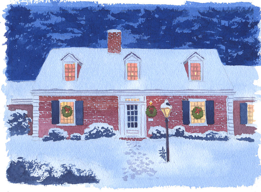 New England Christmas Painting  - New England Christmas Fine Art Print