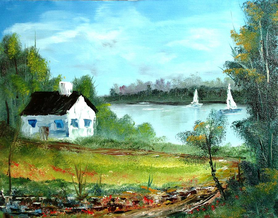 New England Cottage By Larry Hamilton