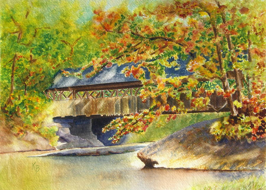 New England  Covered Bridge Painting