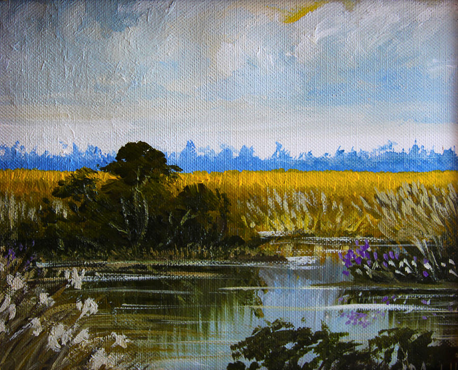 New Jersey Marsh Painting  - New Jersey Marsh Fine Art Print