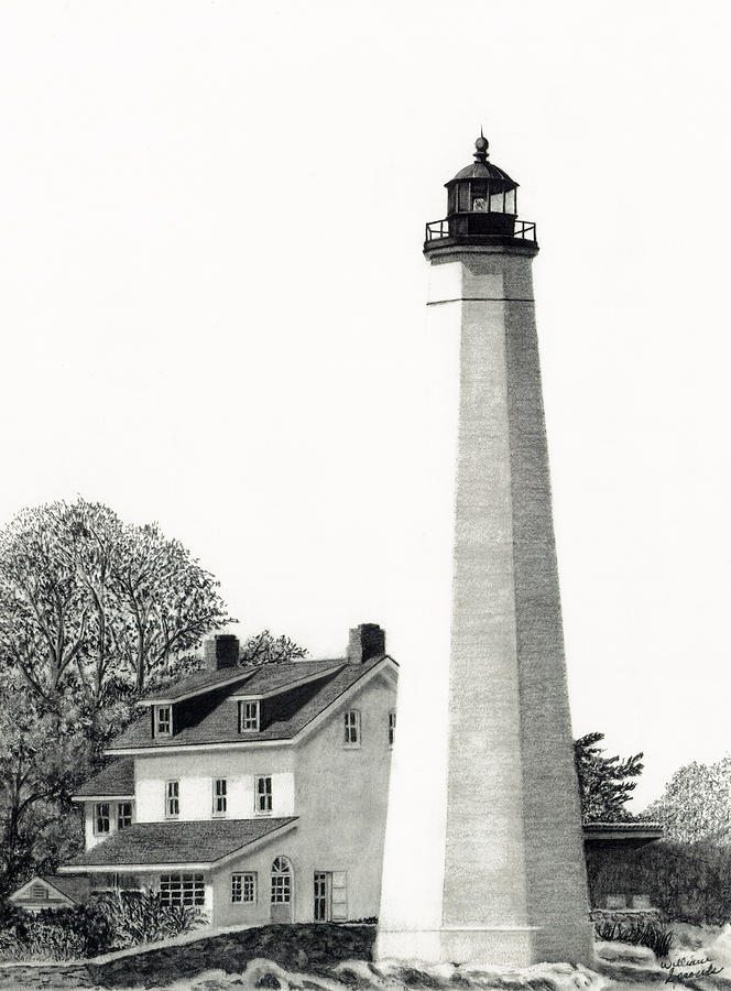 New London Harbor Lighthouse Drawing