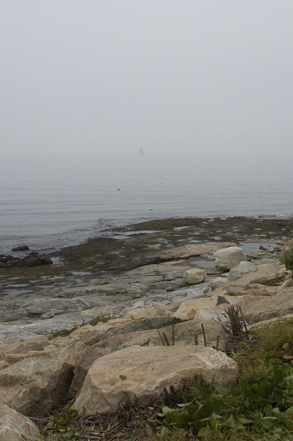 New London Ledge Light In The Dense Fog Photograph