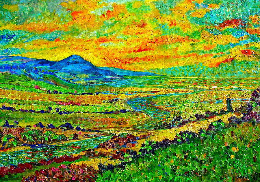 New Mexican Sunset Painting  - New Mexican Sunset Fine Art Print