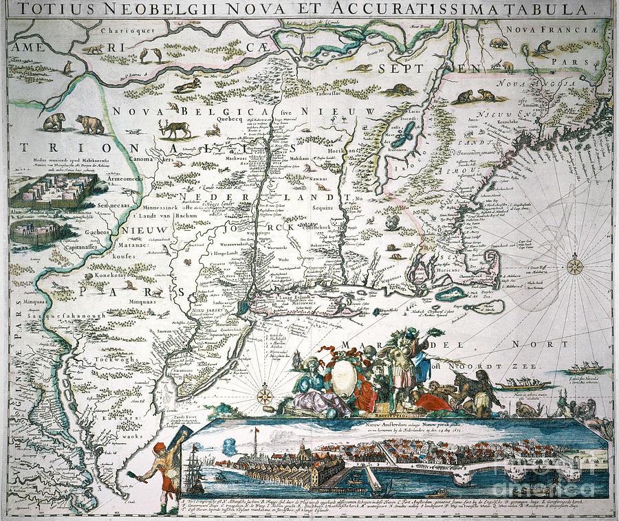 New Netherland Map Photograph