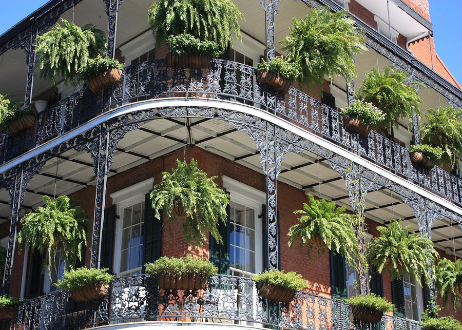New Orleans Balcony Photograph