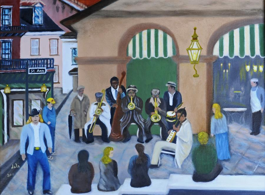 New Orleans Jazz - Rain Or Shine Painting