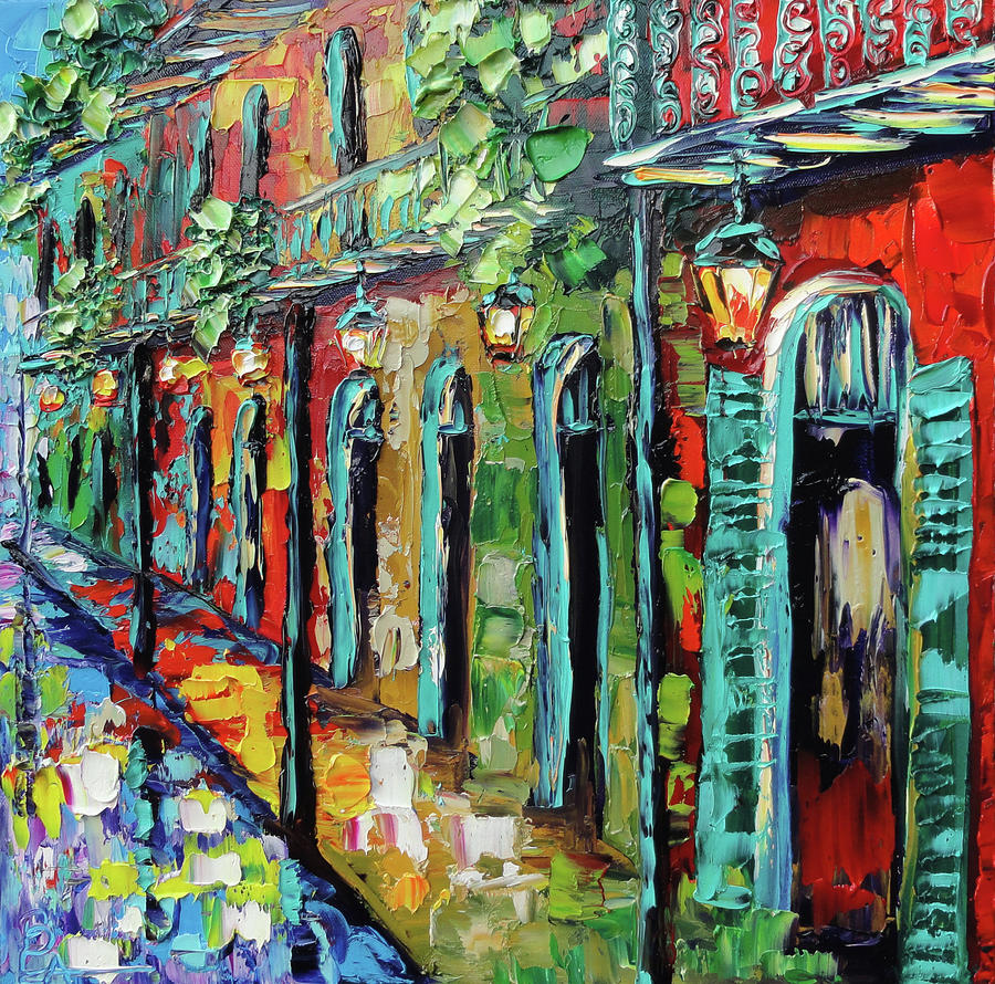 New Orleans Painting - Glowing Lanterns Painting  - New Orleans Painting - Glowing Lanterns Fine Art Print