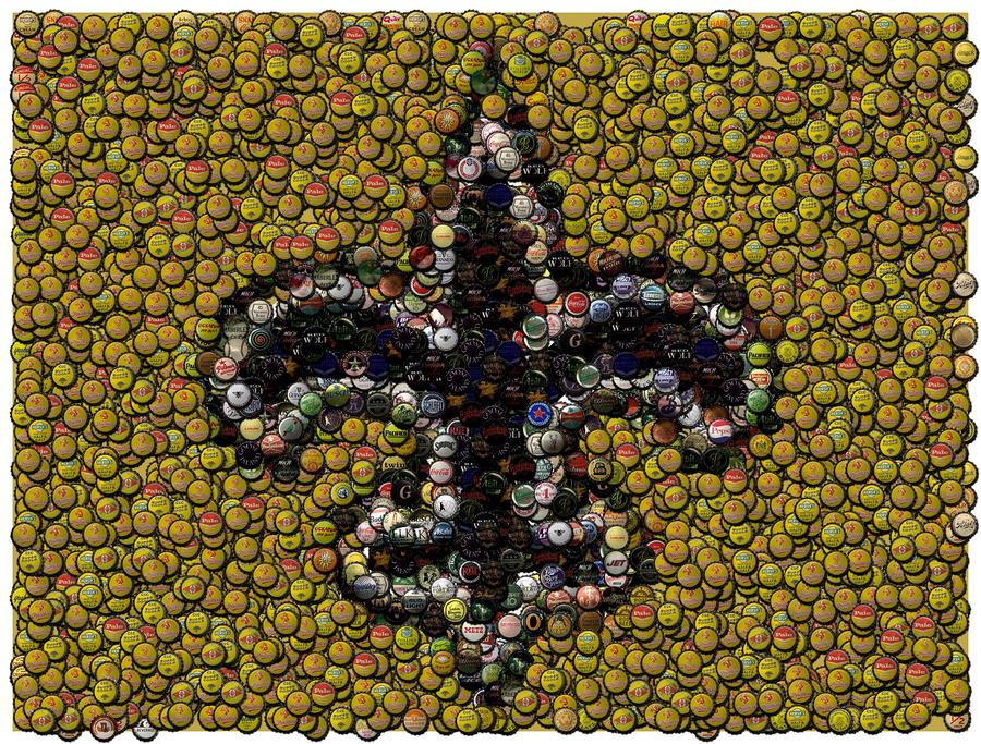 New Orleans Saints  Bottle Cap Mosaic Digital Art