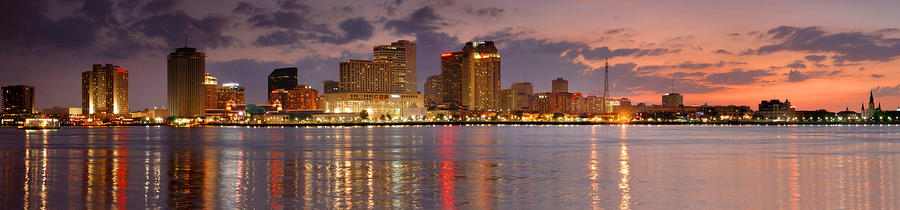 New Orleans Skyline At Dusk Photograph