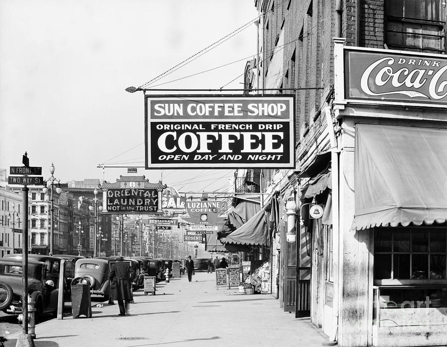 New Orleans: Street, 1935 Photograph