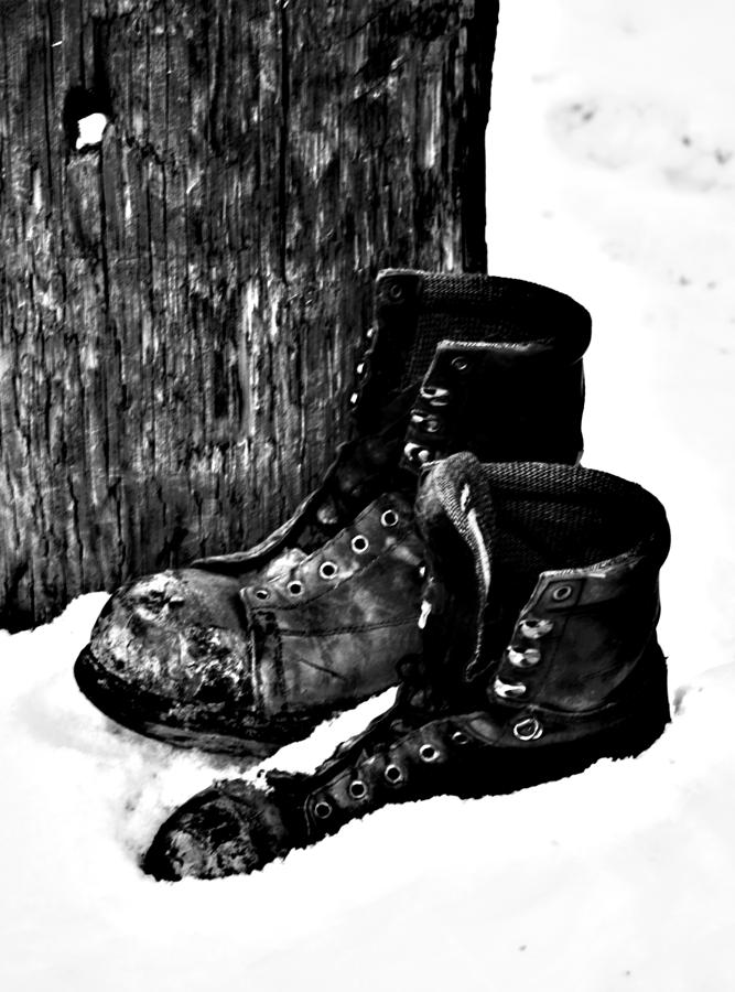 Elm Photograph - New Shoe Drop Off by JC Photography and Art