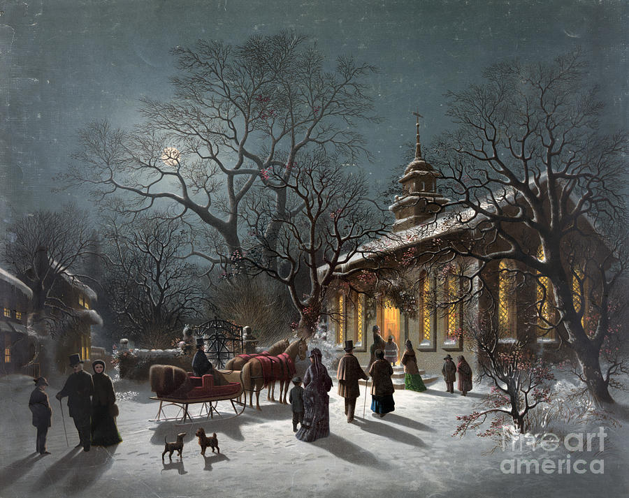 New Years Eve, C1876 Painting  - New Years Eve, C1876 Fine Art Print