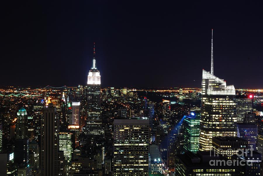 Top Of The Rock Photograph - New York At Night by Alan Clifford