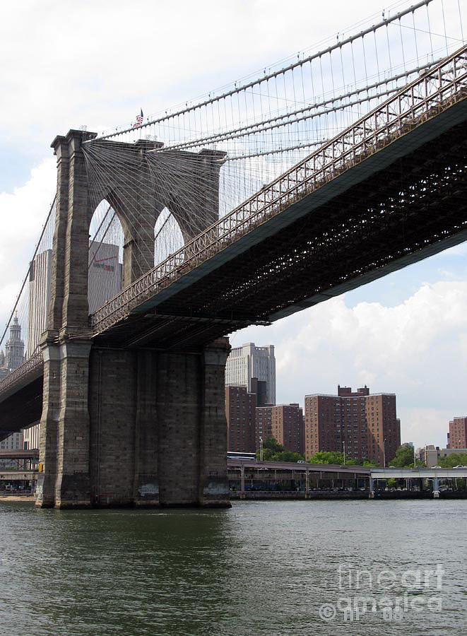 New York Bridges 1- Brooklyn Bridge Photograph