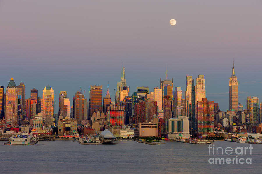 New York City Moonrise I Photograph