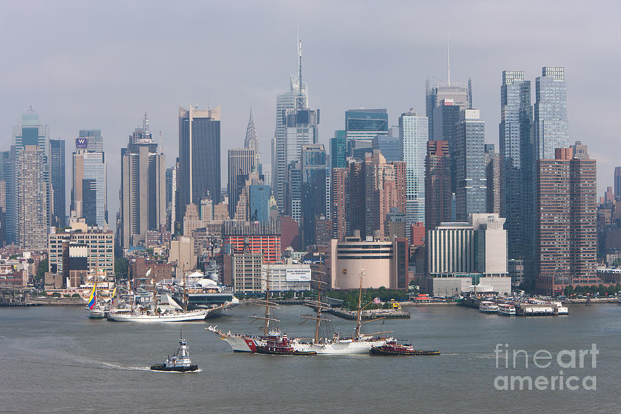 New York City Parade Of Sail I Photograph  - New York City Parade Of Sail I Fine Art Print