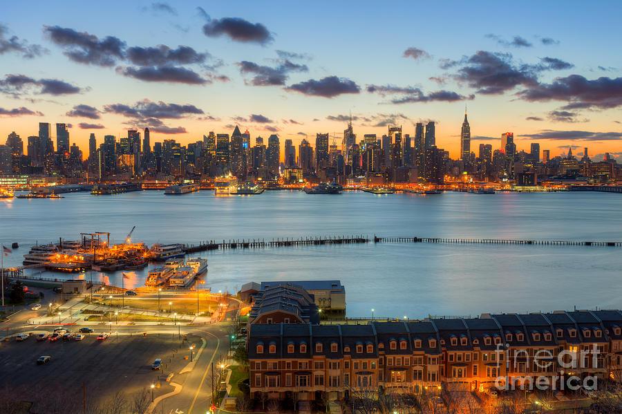 New york city skyline morning twilight viii photograph