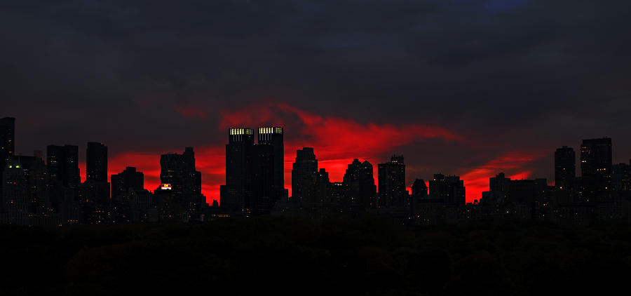 New York Deep Sunset Photograph