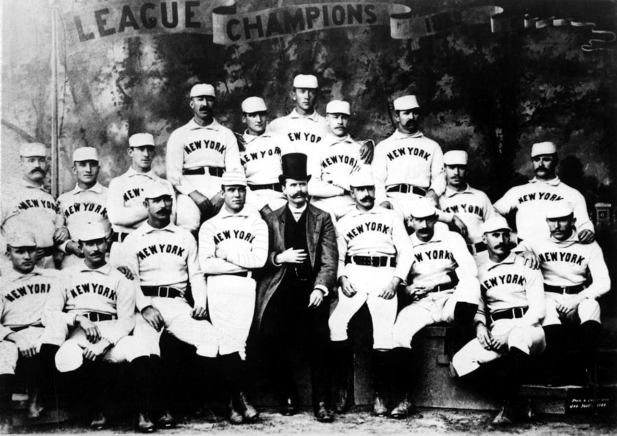 New York Giants, Baseball Team, 1889 Photograph  - New York Giants, Baseball Team, 1889 Fine Art Print