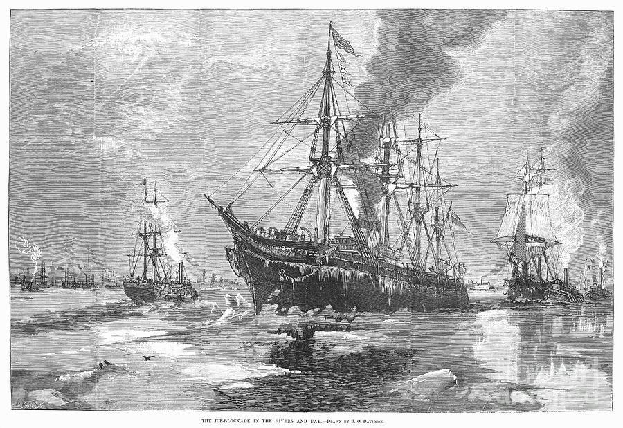 1881 Photograph - New York Harbor: Ice, 1881 by Granger