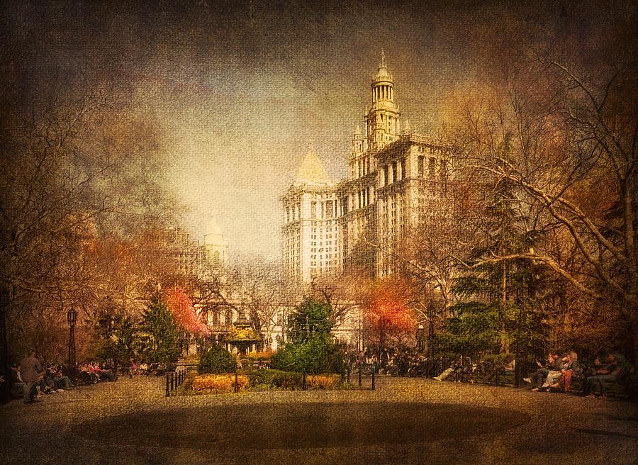 America Digital Art - New York In April by Svetlana Sewell