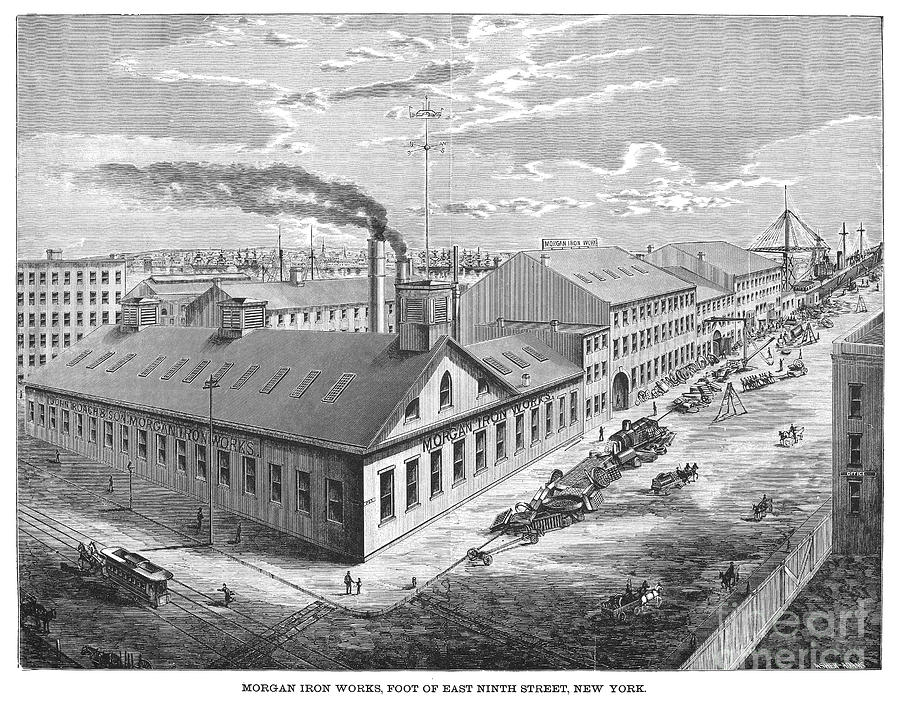 New York: Iron Works, 1876 Photograph  - New York: Iron Works, 1876 Fine Art Print